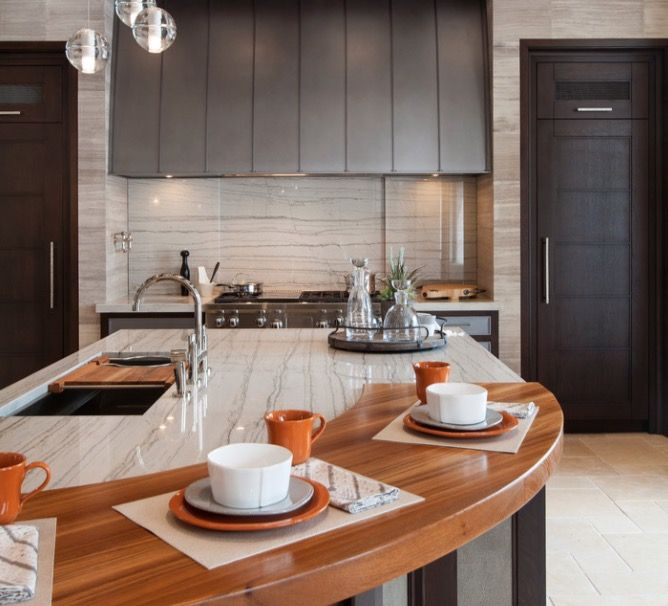 The kitchen countertop is the perfect place to add the for Most modern kitchen