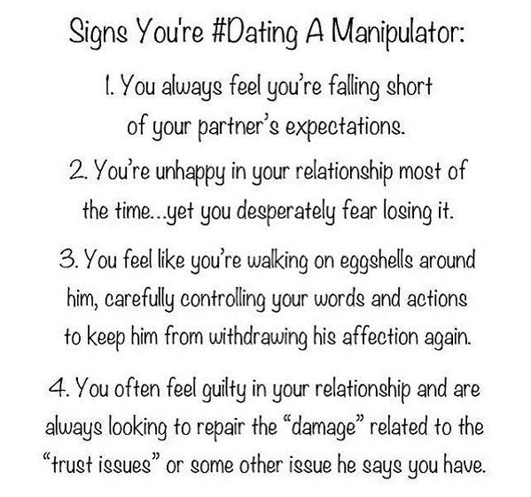 Dating a manipulator