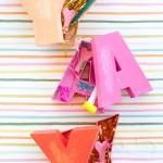 Try this bright, DIY letter box craft.  It's the perfect packaging for your next housewarming gift.