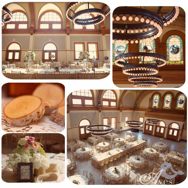Ashton Depot Fort Worth, TX. LOVE this venue. Oh, and how much do you LOVE the long family-style table for the wedding party in the middle of the room?