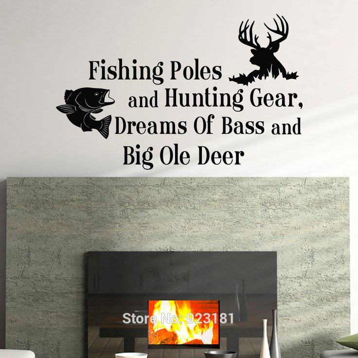 Cheap pole balance, Buy Quality pole camera directly from China pole mold Suppliers: Country Quotes Fishing Poles And Hunting Gear Wall Art Sticker Decal Home DIY Decoration Wall Mural Removable Bedroom