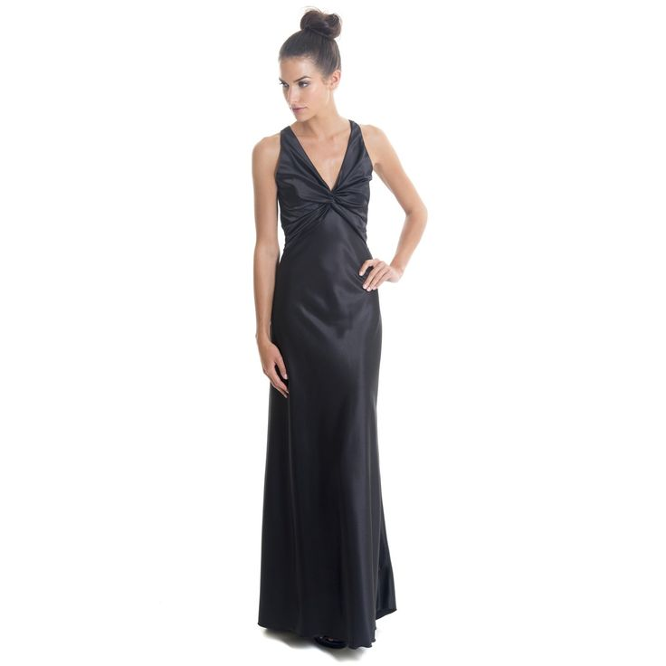 The Langhem Divine Black Evening Gown is a well designed, backless satin dress that will accentuate a woman's décolletage, shoulders and back while maintaining a sleek and slimming look in black floor length satin. The slimming cut and fit makes it perfect for bridesmaid dresses or a special evening gown. Dress Style PointsThe neckline is cut in a deep V to merge stylishly with the gathered design of the bust, making it suitable for different bust sizes The dress beautifully puts the ...