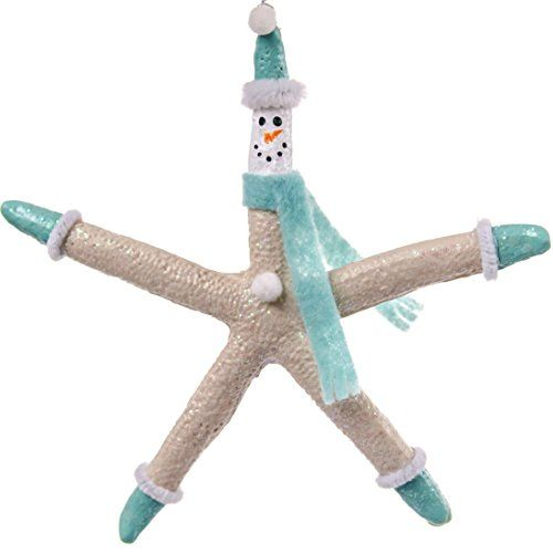 Blue Snowman Starfish Ornament - make for Jeremy & Chris