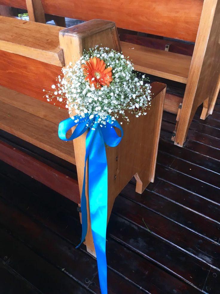 CBD234 wedding Riviera Maya with turquoise and blue corsage for branches/corsage turquesas y naranja para corsage en las bancas de la ceremony