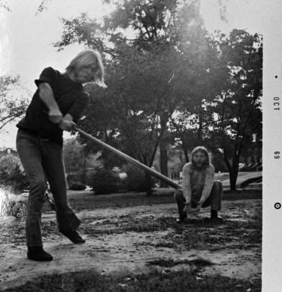Gregg And Duane Allman Playing Cork Ball Macon Georgia October 1969 Twiggs Lyndon Photo Allman Brothers Band Allman Brothers Rock And Roll