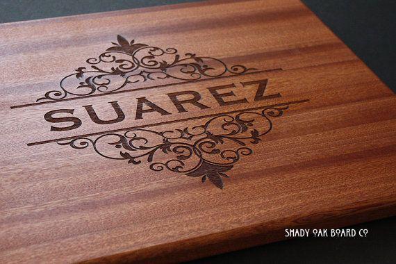 Beautiful Personalized Cutting Board Wood by ShadyOakBoardCo, $31.95