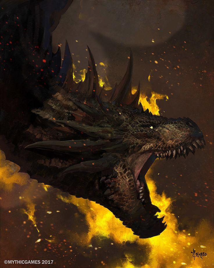 Dragon cover art, Bayard Wu on ArtStation at https://www.artstation.com/artwork/yG3xR