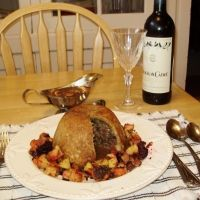 """Quick Savory Steak And Kidney Pudding Recipe _ This recipe puts a time-saving spin on an old English pub favorite. Affectionately known as """"Kate & Sidney,"""" this rustic dish is a nod to my pals across the pond. Using a pressure cooker cuts the total time of this traditionally labor-intensive dish more than in half!"""