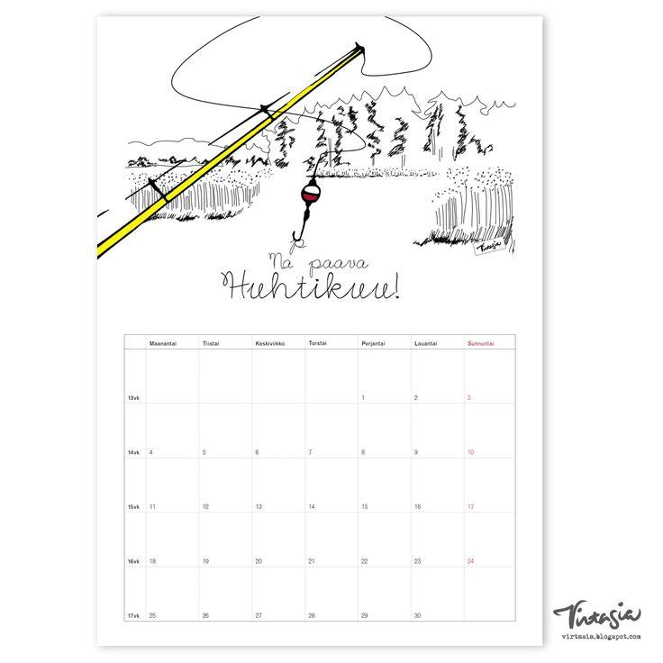 Ilmainen tulostettava huhtikuun 2016 seinäkalenteri #ilmainen #tulostettava #kalenteri #2016 #huhtikuu #free #print #calendar #April