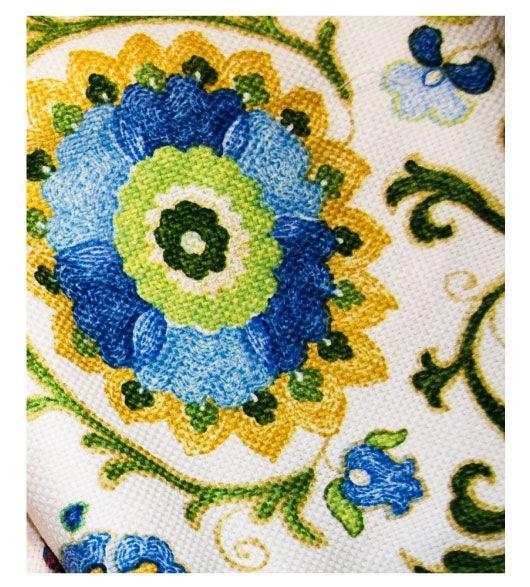 Blue Suzani Fabric By The Yard Fabric Pinterest The
