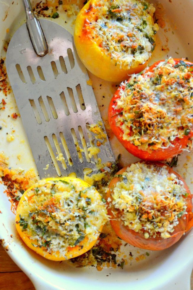 Provencal Tomatoes | The easiest summer side dish!