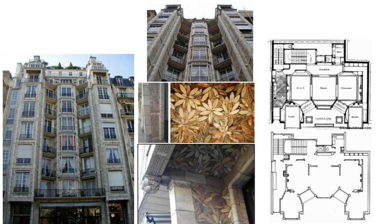 Apartment building on the rue franklin in paris. Famous as the first building to employ reinforced concrete framing.