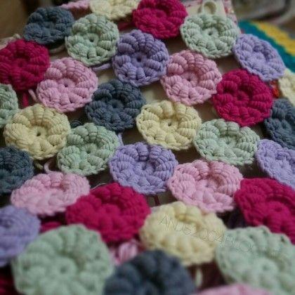 crochet flowers blanket :crochet Bullion stitch