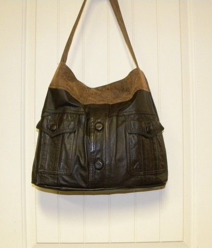 I have a beautiful men's leather jacket.  Instead of donating it I want to re-purpose it into a leather bag.