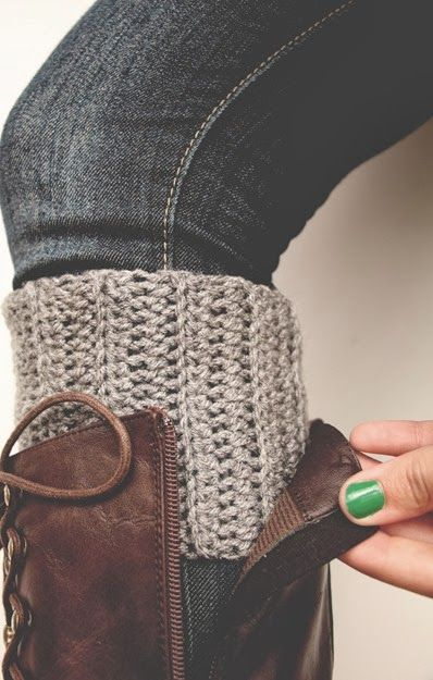 A Town Girl's Life: Crocheted Boot Cuffs…
