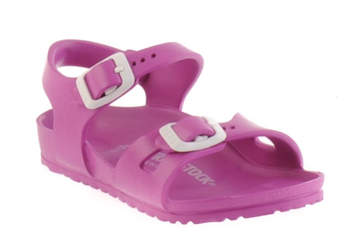 Birkenstock Rio Eva Sandal in Rose.  #Birkenstock #shoes #fashion #casual #kids #sandals