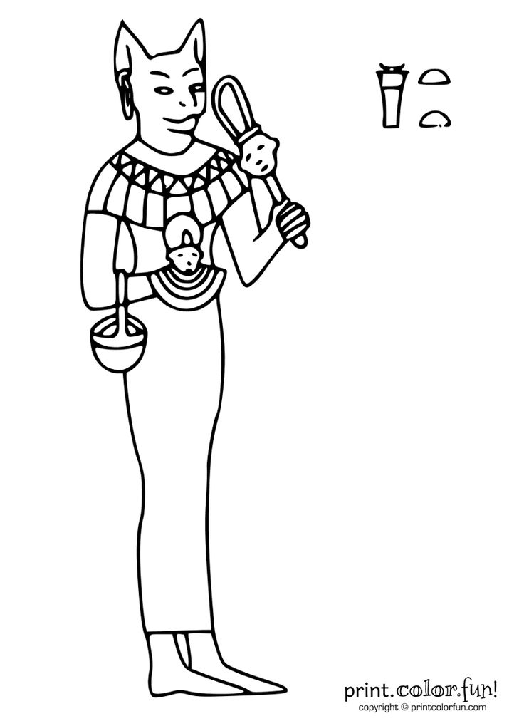 Printable egypt coloring pages
