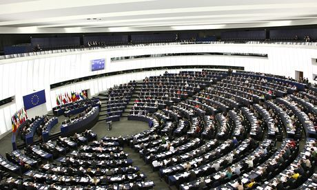 Power point: the European parliament is subject to intense pressure from corporate interests, and many MEPs use their inside knowledge to take up lucrative lobbying positions when they quit. Photograph: Michele Tantussi/Getty Images