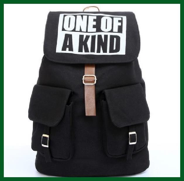 Kpop BIGBANG hombro moda GD salvaje mochila con tapa TVXQ una de tipo mochila bolsa viaje mochila