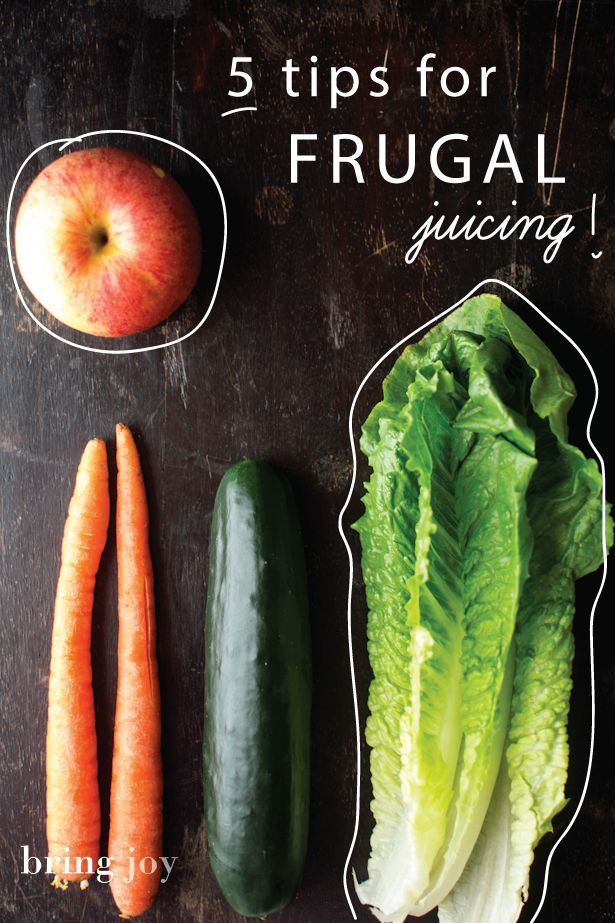 5 tips for frugal juicing -- you can reap the benefits of juicing, even if you're on a tight budget // bring-joy.com #cleanse #vegan