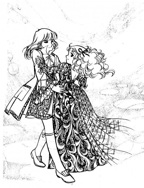 "Art from ""Candy Candy"" series by manga artist Yumiko Igarashi - Terry ♥ Candy - Romeo ♥ Juliet"