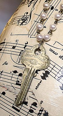 Necklaces out of old keys @Stephanie Wise