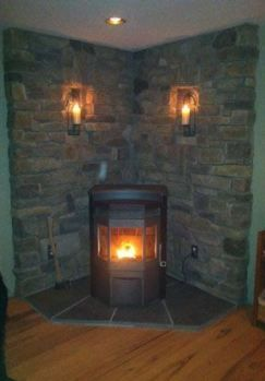 26+ Ideas Wood Burning Stove Corner Ideas Fireplaces