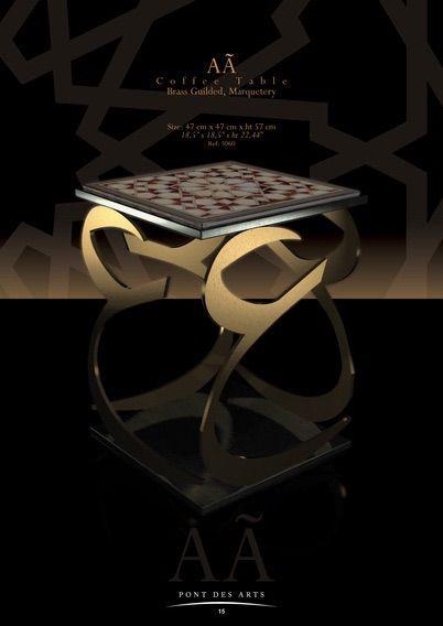 Âa Coffee Table - Pont des Arts Studio- Paris- Designer MONZER Hammoud -