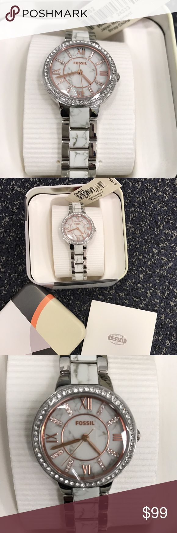 Montre pour femme : SOLD OUT  Brand new Fossil marble bracelet watch Fossil ES3962 Virginia Women
