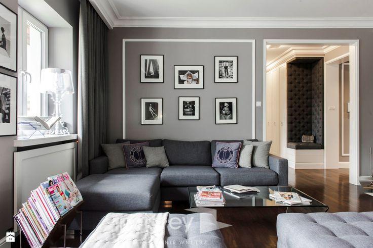 Salon styl Nowojorski - zdjęcie od TiM Grey Projektowanie Wnętrz - Salon - Styl Nowojorski - TiM Grey Projektowanie Wnętrz