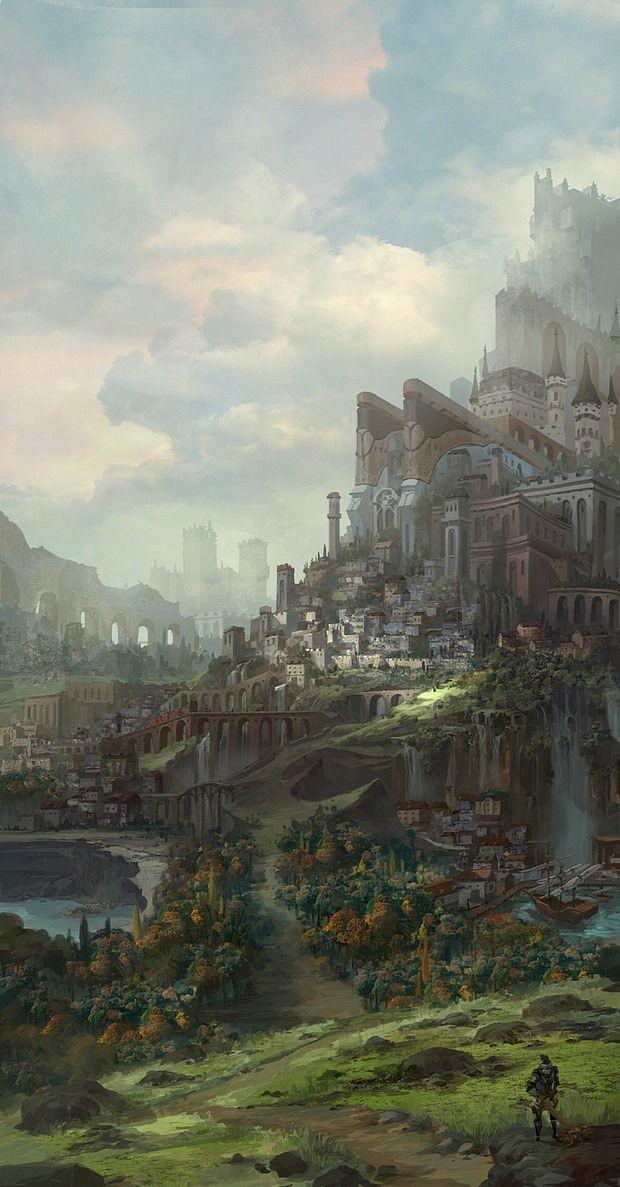 Atlantis? Dream lands... Digital Art by Shawn Koo