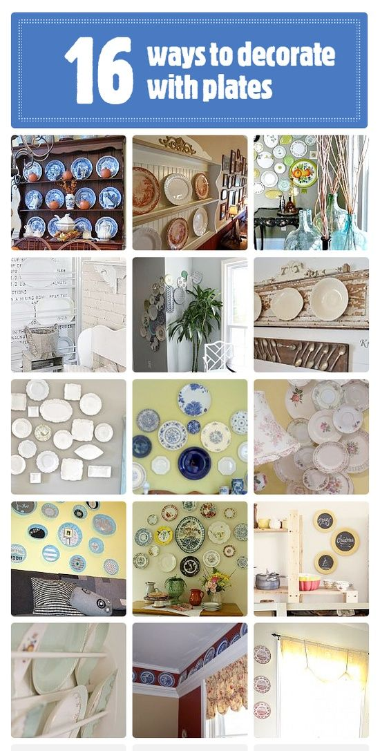 20 + DIY:: Ways to Decorate with Plates!