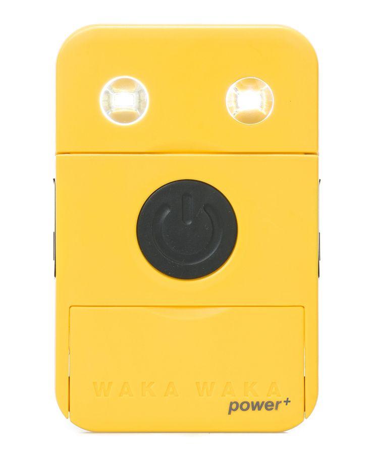 Solar mobile charger. The Solar Light Company - WakaWaka Power Plus, £54.00 (http://www.thesolarlightcompany.co.uk/wakawaka-power-plus/)