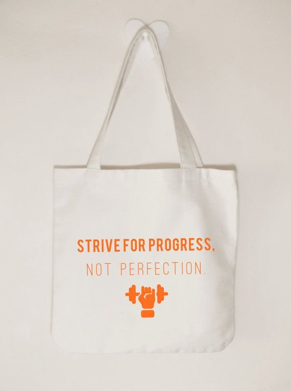 Strive for progress not perfection canvas gym by ToastStationery
