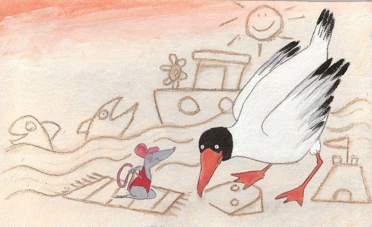 Samen aan zee. Illustratie: Paula Gerritsen. Uitgv: Lemniscaat.