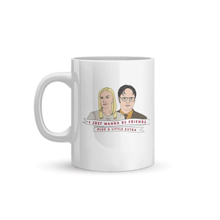 Rainn Wilson and Angela Kinsey Card & Mug  White Mug Small