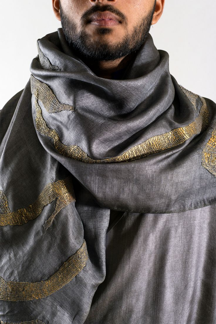 swati kalsi hand embroidered scarf