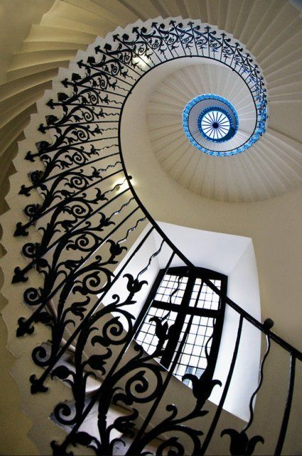 Tulip Stairs, inside the Queen's House, Greenwich Park in London