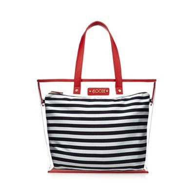 Floozie by Frost French Navy striped print tote bag | Debenhams