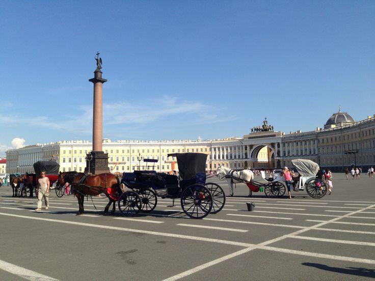 Дворцовая площадь. Центр Петербурга.