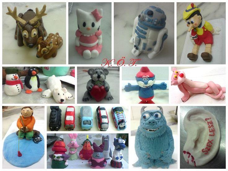 Egyedi rendelésre készült marcipán figuráim / My fondant figures for order