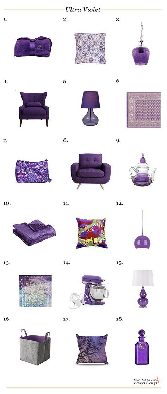 pantone ultra violet, interior design color trends, color trends 2018, dark purple decor, purple decor, purple home accents, purple home decor, purple interior, purple room decor, violet interior design, interior design product roundup
