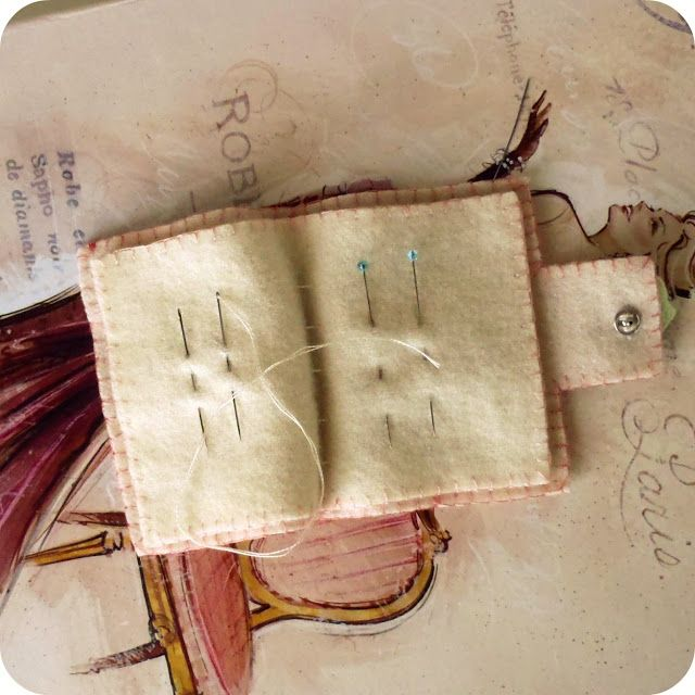 Needle book with instructions.