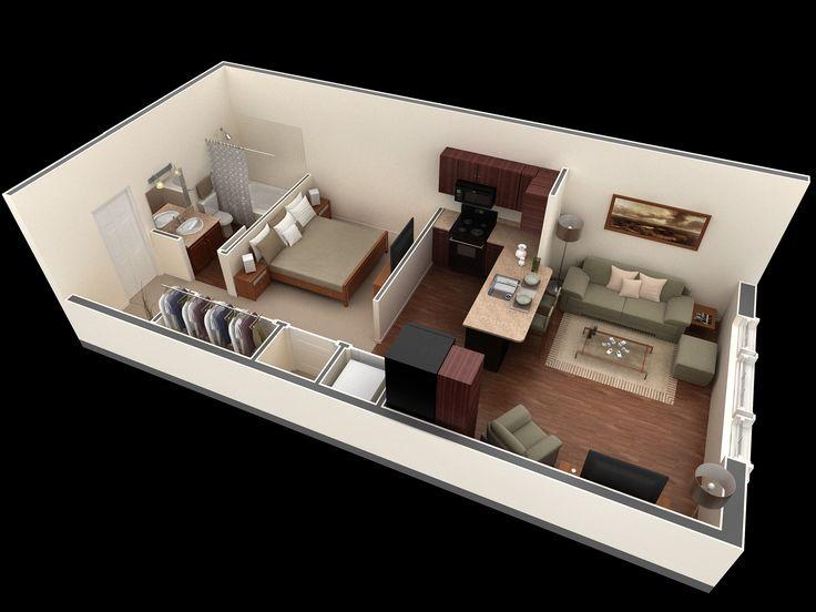 15 Inspirations Floor Plans. Small Studio ApartmentsApartment ...