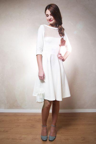 Sissi Brautkleid cremeweiß von Mirastern auf DaWanda.com