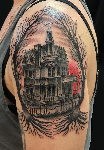 The Addams Family house done by Issac Bushkin at Lady Luck...