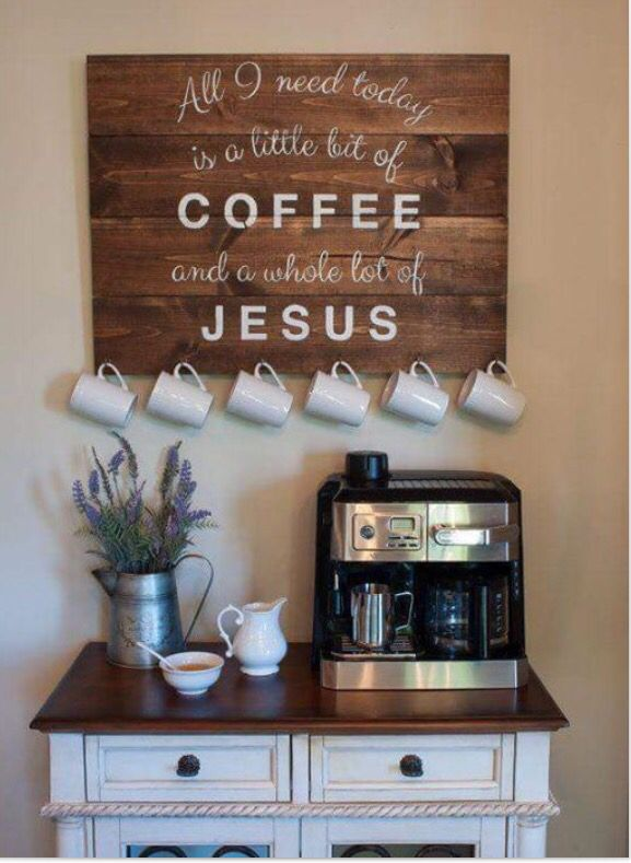 Would love a coffee bar.