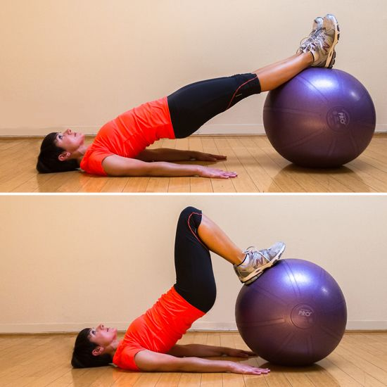 On the Ball: 3 Exercises to Tone Your behind. I want an exercise ball!