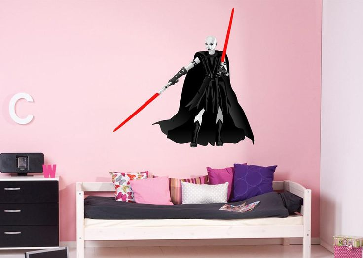 cik1268 Full Color Wall decal asajj ventress Witch Star Wars children's bedroom