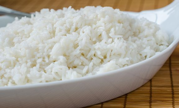 """Basmati is a fragrant, nutty-tasting long grain rice grown in the Himalayas and Pakistan. """"Bas"""" in Hindi language means """"aroma"""" and """"mati"""" means """"full of,"""" hence the word Basmati — or """"full of aroma."""""""